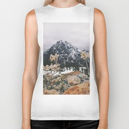 Mountains + Flowers Biker Tank