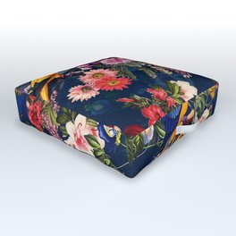 FLORAL AND BIRDS XII Outdoor Floor Cushion