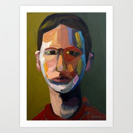 Colorful man Art Print