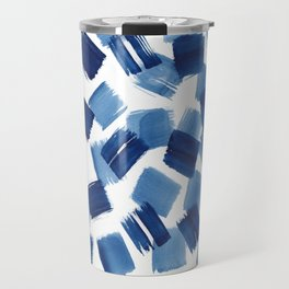 Indigo Brush Strokes | No.1 Travel Mug