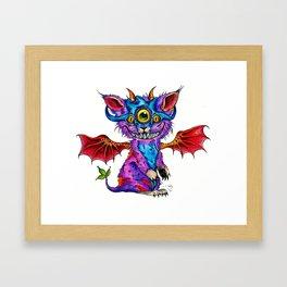 Fluffy Mind Creature  Framed Art Print