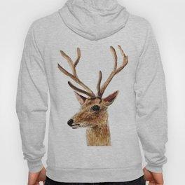 deer watercolor painting Hoody