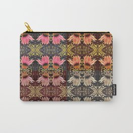 Coneflower Medley, Echinacea Pattern, Midwestern Flowers Carry-All Pouch