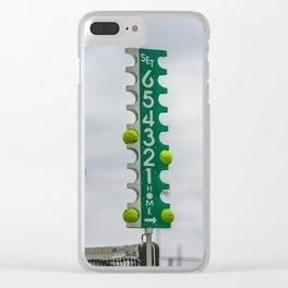 Tennis Score Clear iPhone Case