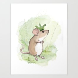 A Little Mouse Prince Named Reed Art Print