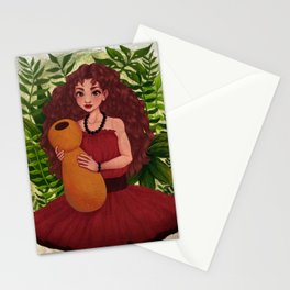 Hula Girl Stationery Cards