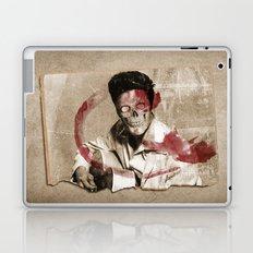 he's dead get over it Laptop & iPad Skin