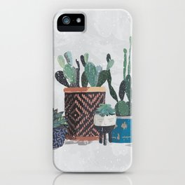 Cactus and succulents garden iPhone Case