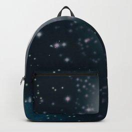 Full moon, starry sky digital illustration  Backpack