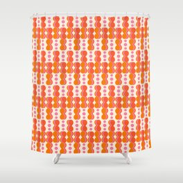 Uende Sixties - Geometric and bold retro shapes Shower Curtain