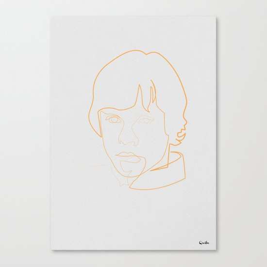 One line Skywalker Canvas Print