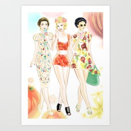 Dolce & Gabbana SS12 Illustration Art Print