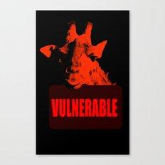 Vulnerable Giraffe Canvas Print