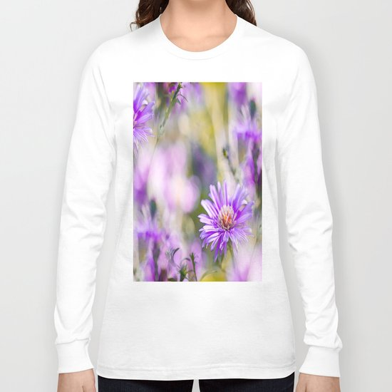 Summer dream - purple flowers - happy and colorful mood Long Sleeve T-shirt
