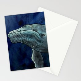 Humpback Whale Illustration Stationery Cards
