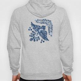 Blue indigo paisley Hoody