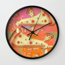 Pizza Party Betches Number Three Wall Clock