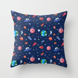 space adventures Throw Pillow