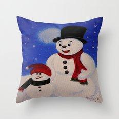 Hapy Holidays Throw Pillow