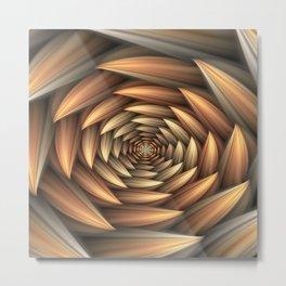 Fractal Buds Tunnel Metal Print