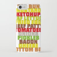 hamburger iPhone & iPod Cases featuring Hamburger by AURA-HYSTERICA