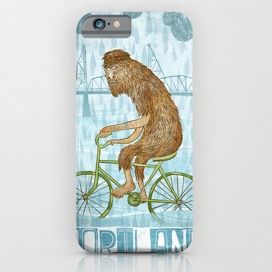 Dirty Wet Bigfoot Hipster iPhone & iPod Case