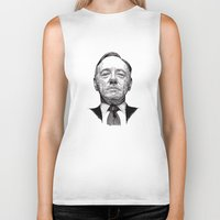 frank underwood Biker Tanks featuring House of Cards - Francis Underwood by Rik Reimert