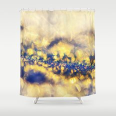 Ice Canyon in Purple and Gold Shower Curtain