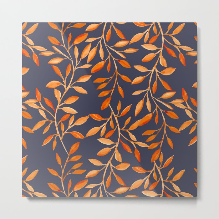 Autumn pattern Metal Print