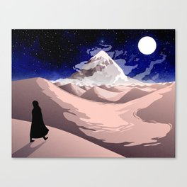A journey of a thousand miles begins with a single step Canvas Print