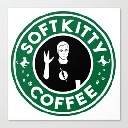 Soft Kitty Coffee Canvas Print