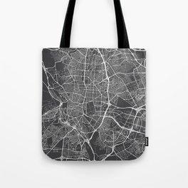 Madrid Map, Spain - Gray Tote Bag