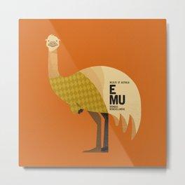 Hello Emu Metal Print