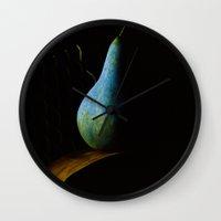 pear Wall Clocks featuring Pear by Jean-François Dupuis