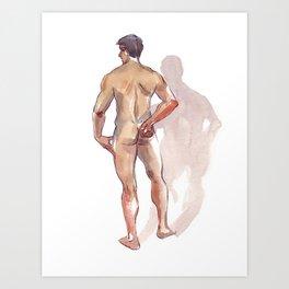 RENATO JR, Nude Male by Frank-Joseph Art Print