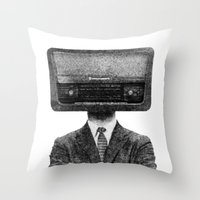 radiohead Throw Pillows featuring RadioHead by duba