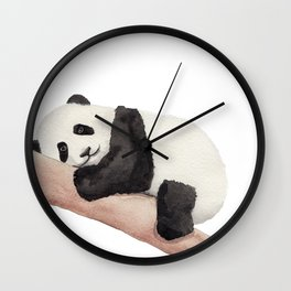 Watercolor Panda Wall Clock