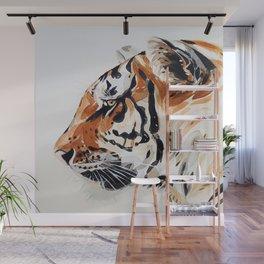TIGER IN WATERCOLOR Wall Mural