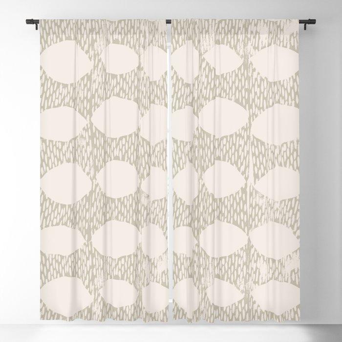 Arches Block Print in Cream Blackout Curtain