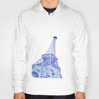 eiffel tower Hoodies featuring Eiffel Tower by BlueShadowM