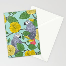 African Greys Stationery Cards
