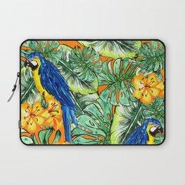 Tropical Pattern Parrots Laptop Sleeve