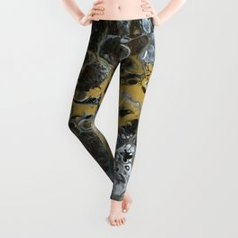Black and Gold Horizon Leggings