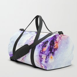 Abstract marble purple colorful Duffle Bag