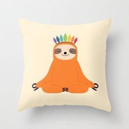 Master Of Calm Throw Pillow