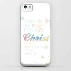 i can do all things through Christ Slim Case iPhone 5c