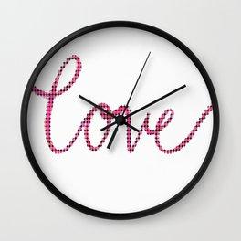 Love Script Checkers Wall Clock