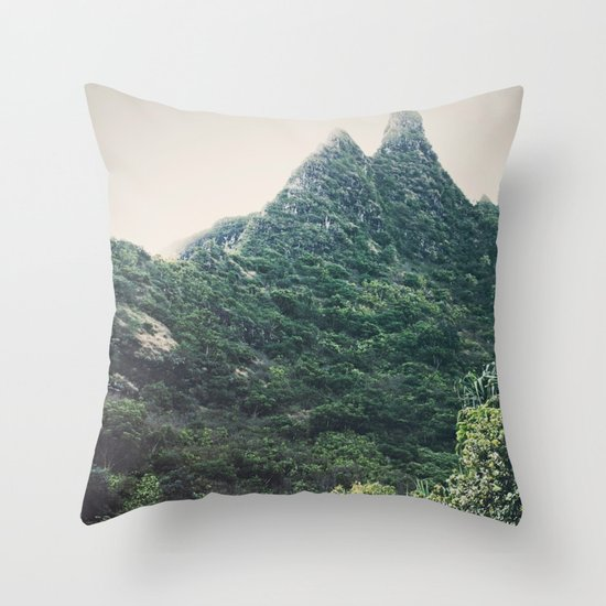 Hawaii Mountain Throw Pillow