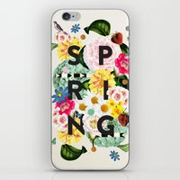 spring iPhone & iPod Skins featuring SPRING by Dawn Gardner