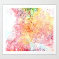 bubbles Art Prints featuring Bubbles by emilie